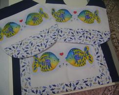 Jogo De Banheiro - Peixes 03