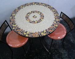 Mesa e 2 cadeiras mosaicos c�digo 89