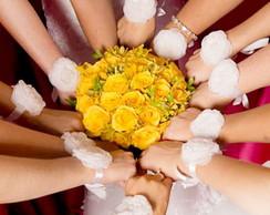 Corsage unitario noiva de flor e p�rolas