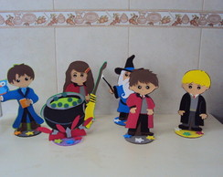 enfeites de mesa harry potter
