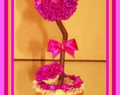 Topiaria de Flor Sempre Viva Pink Mini