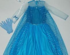 vestido Princesa Elsa - FROZEN