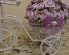 Mini Bicicleta com flores Lilas