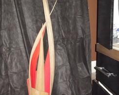 luminaria de canoa de coqueiro
