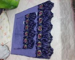 jogo de toalhas com croche