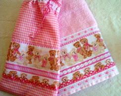 Toalha Infantil com sacola - Ursinhos