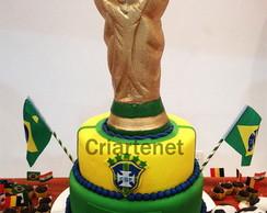 Bolo decorado Copa - Futebol