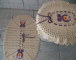 Jogo De Banheiro em croch� corujinhas