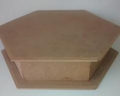 caixa sextavada 30x30x8,5