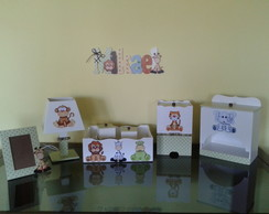 Kit Beb� Saf�ri Completo + NOME DECORADO