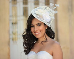 Chap�u Fascinator Renda Penas