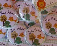 Buttons 45mm embalados com tag