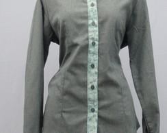 Camisa Feminina Cinza