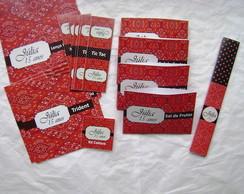 Kit Toalete: 15 Anos Bandana vermelha
