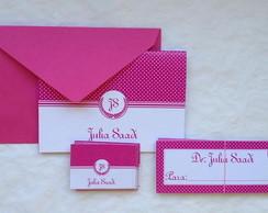Kit cart�es: Monograma Pink