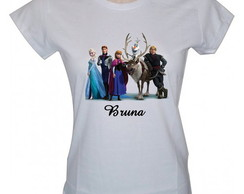 Camiseta baby look Frozen