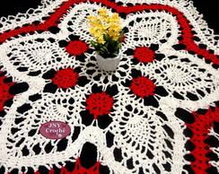 Centro de mesa de croch� floral