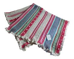 Manta de linha de croch�