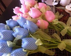 Tulipas - Flores tecido