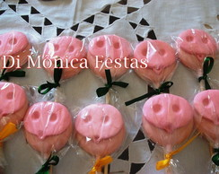 Pirulitos de chocolate Peppa Pig.