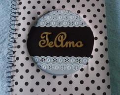 Caderno com capa decorada