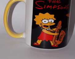 Caneca Rock Bart e Lisa Simpsons