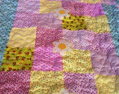 Manta para beb� (menina) em patchwork