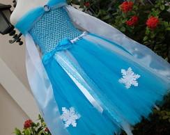Vestido Tutu Elsa - Frozen