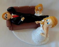 Topo de bolo para casamento