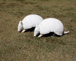 Escultura Tatu Bola em fibra de vidro