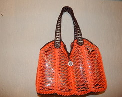 Bolsa De Pet Com Croch� - Laranja/Marron