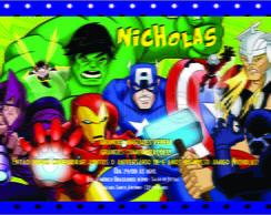 Convite Personalizado ''Os Vingadores''