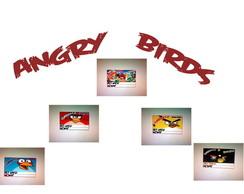 �m� de geladeira 5x4 Angry Birds