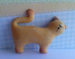 Lembrancinha aplique gato biscuit.
