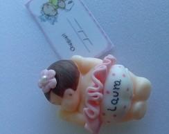 Lembrancinha biscuit beb� Laura