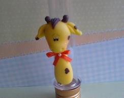 lembrancinha biscuit tubetes girafa