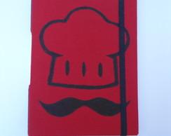 Caderno de Receitas vermelho