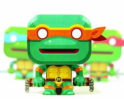 Paper Toy 3D Michelangelo Tart. Ninjas