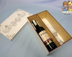 Porta vinhos para Mini Vinho + Ta�a