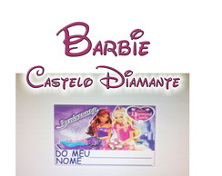 �m� geladeira 5x4 Barbie Cast Diamante