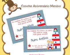 Convite Urso Marinheiro