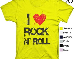 Camiseta I Love Rock N'roll