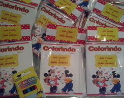 Kit Para Colorir Minie e Mickey