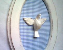Quadro oval Esp�rito Santo Proven�al