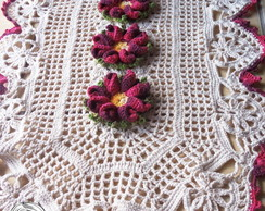 Tapete de croch� Flor Graciosa Bicuda