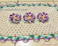 Tapete de croch� Flor Prisma