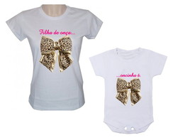Camiseta baby look e body m�e e filha