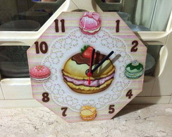 relogio cup cake decoupage
