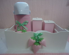 Kit Higiene Beb� Moranguinho Rosa