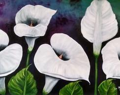 Pintura Flores Copo de Leite Cl�ssico